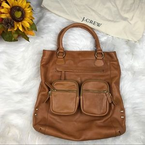NWT large J crew  Leather tote